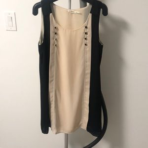 Nordstrom Navy and Cream Shift Dress